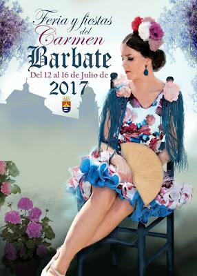FERIA Y FIESTAS DEL CARMEN - BARBATE 2017 - Aires de Feria - Manuel Jesús Torrejón Pérez - Modelo: Alba Alcántara Dueñas - Diseño del traje: María Remedios Alcántara Agua