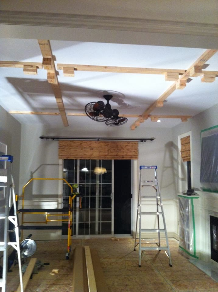 White Wood My Diy Coffered Ceiling