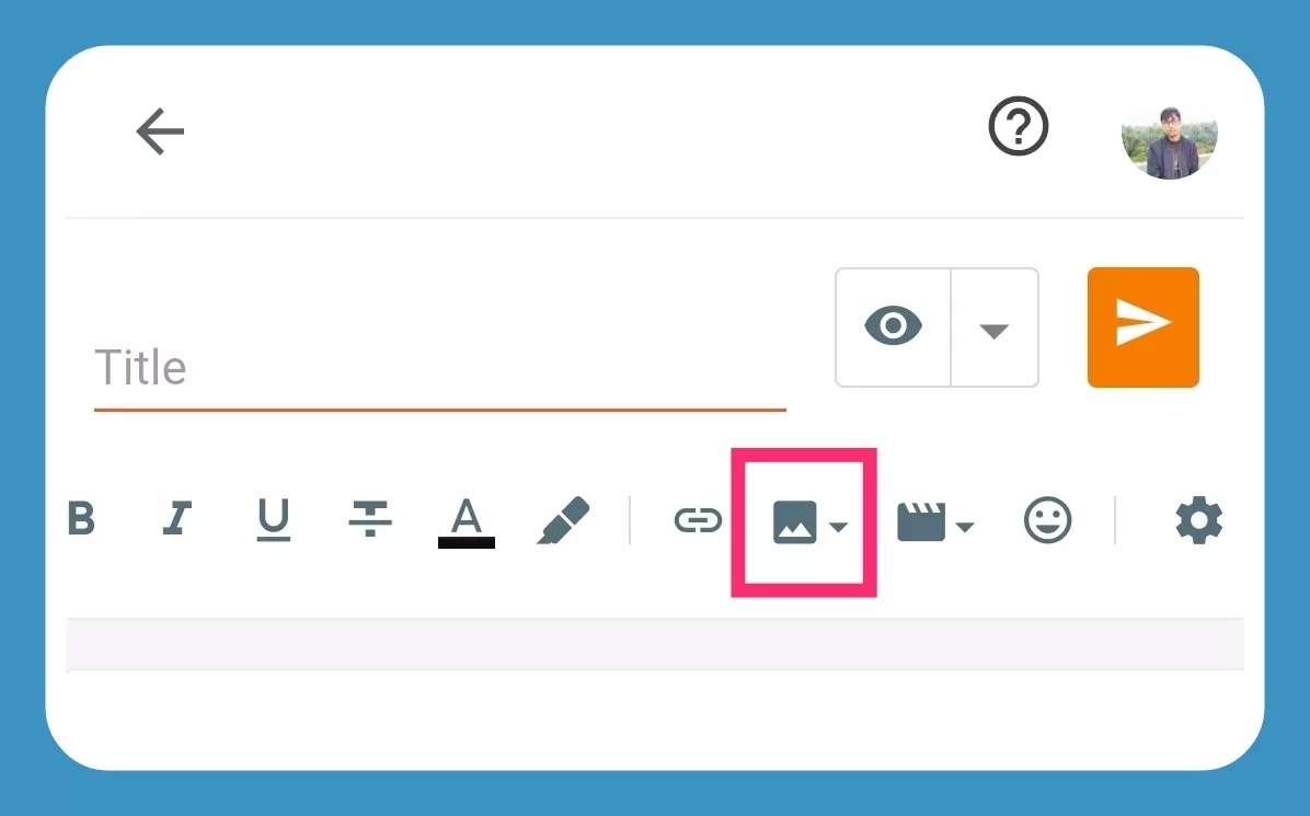 How to Add/Upload images to a blogger's blog post?