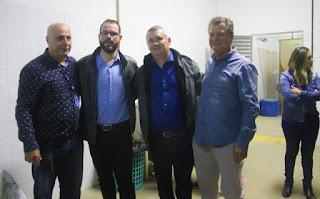 Prefeito Geraldino Júnior recebeu, na terça 13/08, o secretário nacional de Aquicultura e Pesca, Jorge Seif Júnior