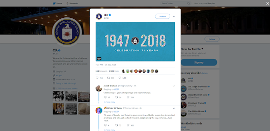 CIA Gets Trolled on 71st Birthday