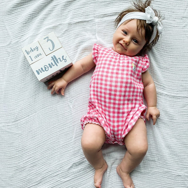 3 month baby picture #monthlybabypicture