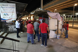 Retira Vía Pública 63 puestos semifijos del bulevar Vicente Guerrero