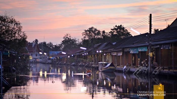 Amphawa Floating Market Sunrise