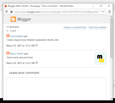 Comments Box Styles in Blogger   Popup Window