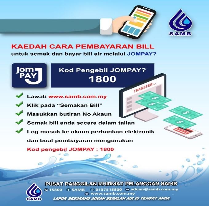 Semak dan Bayar Bil Air Di Melaka