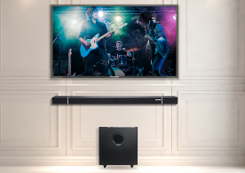speaker soundbar the design is compact and takes up no space img