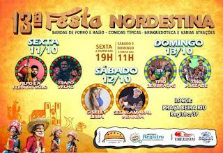 13ª Festa Nordestina 11,12 e 13 de Outubro em Registro-SP