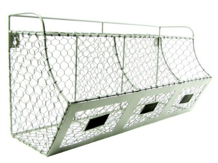 farmhouse chicken wire storage basket
