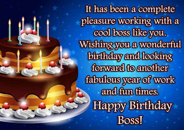 Happy Birthday Greetings and Messages for boss