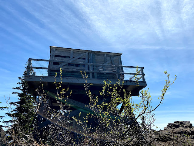 Historic fire lookout on Devil's Peak