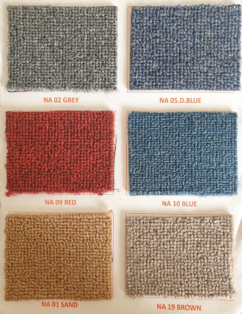 Bảng màu thảm cuộn trơn