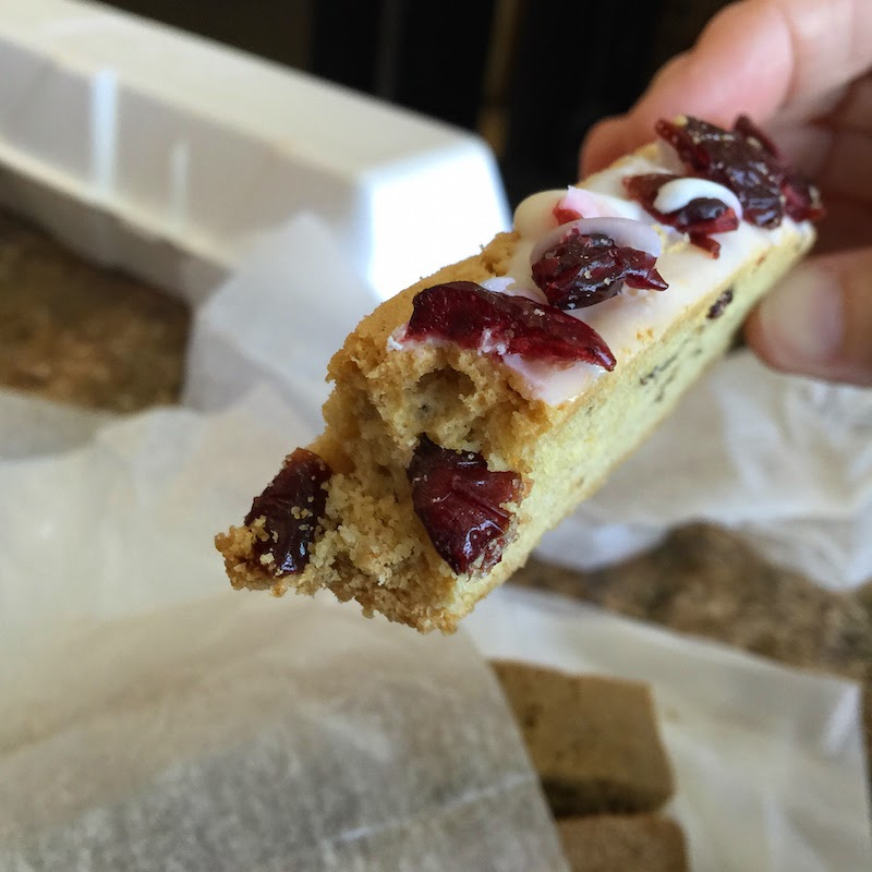 Iced cranberry biscotti at Formica Bros. Bakery in Atlantic City