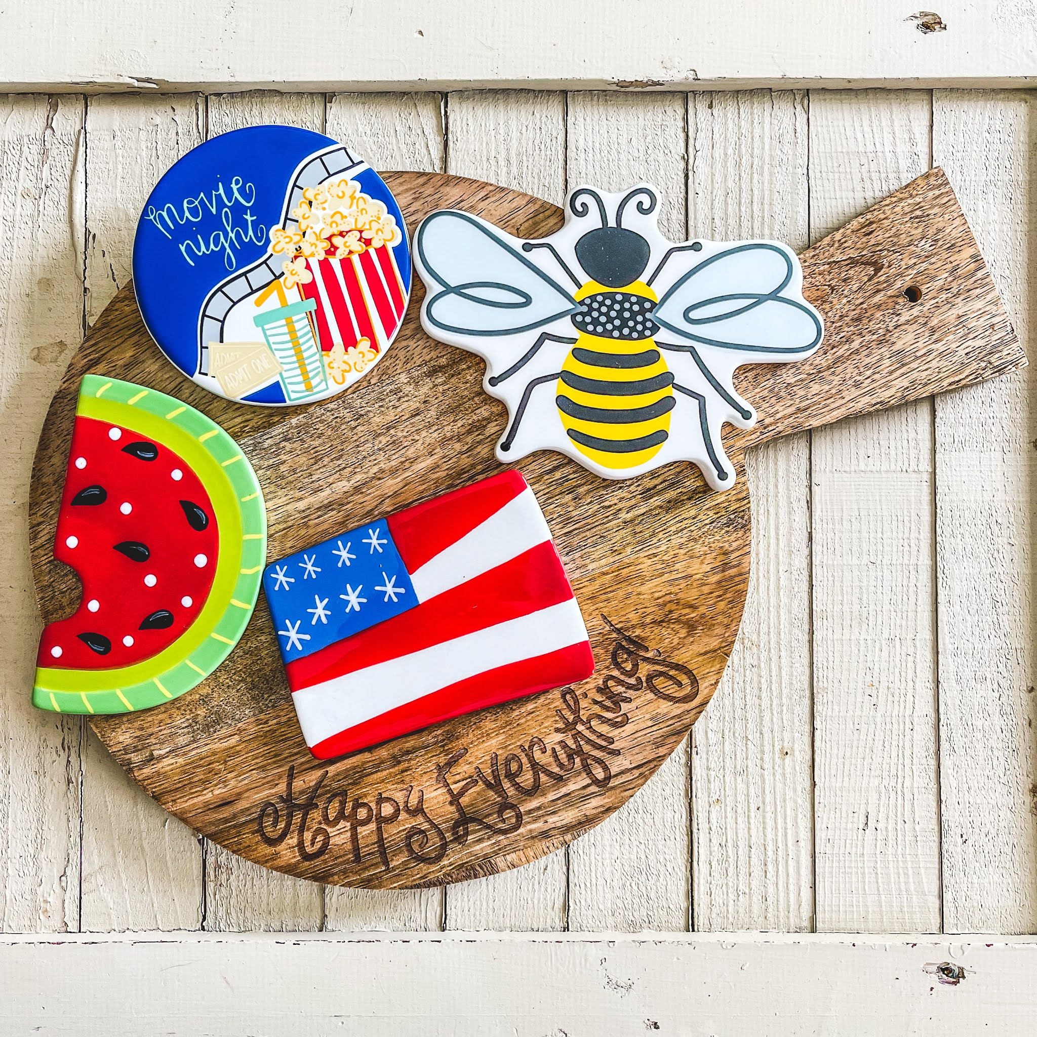 Happy Everything! Serving Board with Cute Attachments