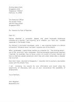 Reporter application letter