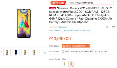 Samsung Galaxy M31 Lazada