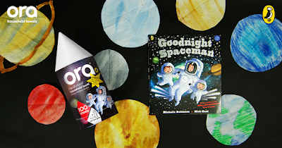 Space Week Activities & Giveaway with Ora Kitchen Towel & Puffin Books