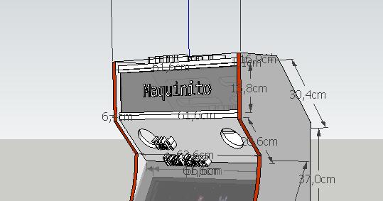 Maquinito medidas de mueble de m quina recreativa arcade - Medidas de monitores para pc ...