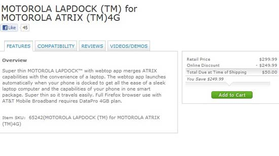 buy motorola lapdock price with phone