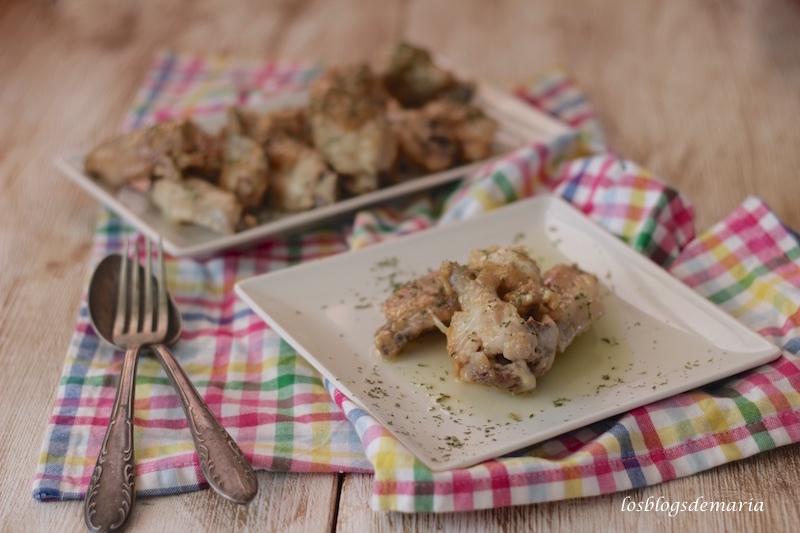 Alitas de pollo al ajillo en Cuisine