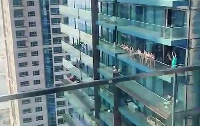 Decine di modelle vengono arrestate a Dubai, video di nudo sul balcone