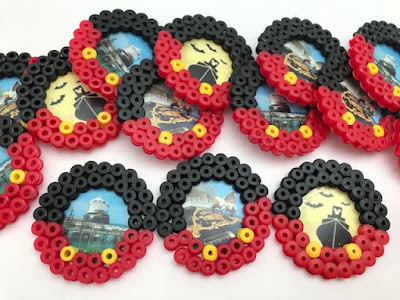 Disney cruise themed Hama bead magnets