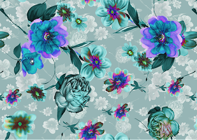 floral water colour textile repeat 7040
