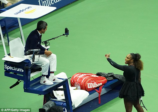 Serena Williams fined £13,000 out of £1.4m runner-up prize money after angry outburst at umpire during US Open final defeat