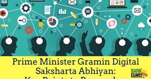 Prime Minister Gramin Digital Saksharta Abhiyan Key