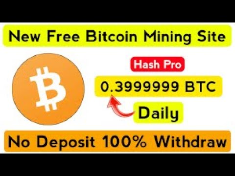 Free Bitcoin Mining site 2020 Mine BTC Daily No Investment Payment Proof