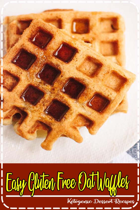 This waffle recipe requires just one flour Easy Gluten Free Oat Waffles