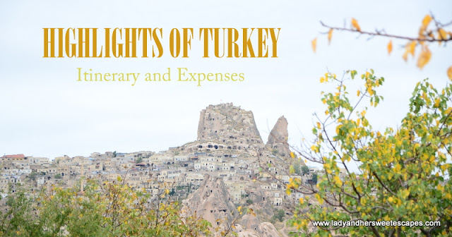 Turkey Travel Itinerary and Expenses