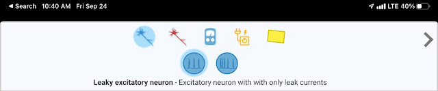 Leaky excitatory neuron