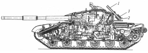 схема розміщення газодетонаційного міномету на танку