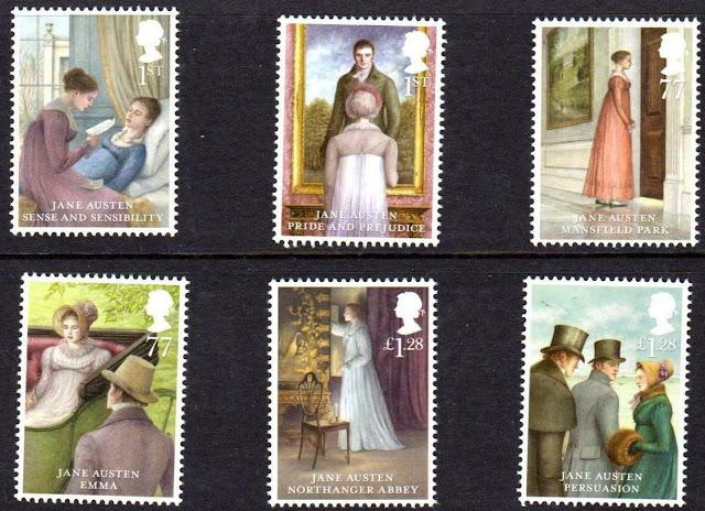 2013 Gb Jane Austen Set Of 6 Bicentenary Pride Prejudice