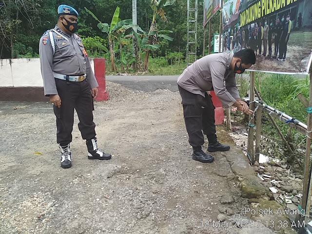 Polsek Awang Gencar Laksanakan Pendisiplinaan Personel Cegah Penyebaran Covid- 19