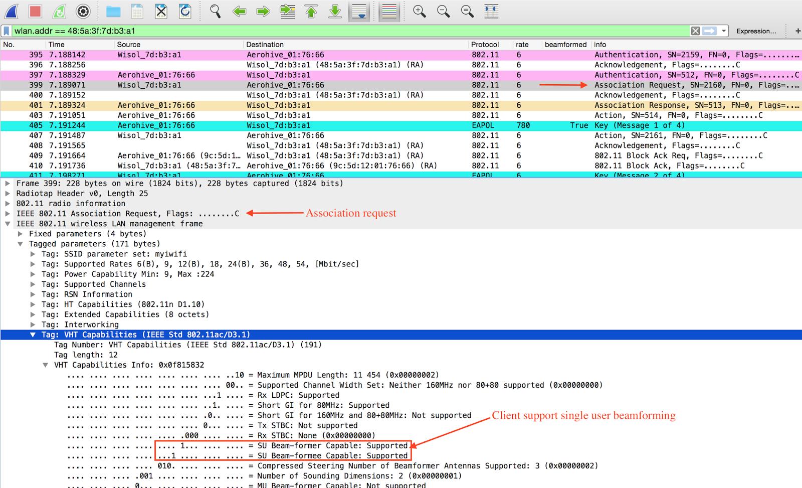 Ruwan's techno Blog: Is my 802 11ac wifi AP beamforming ?