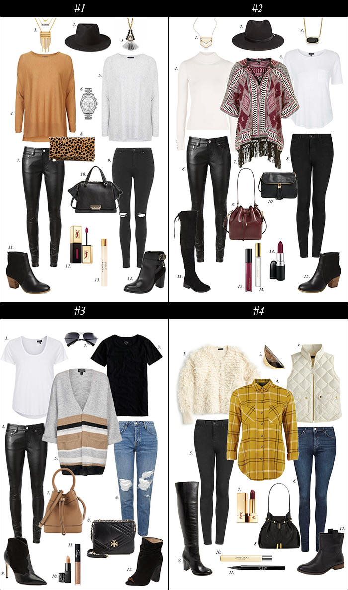 fringe, black denim, fedora, clare v leopard clutch, poncho, how to wear fedora