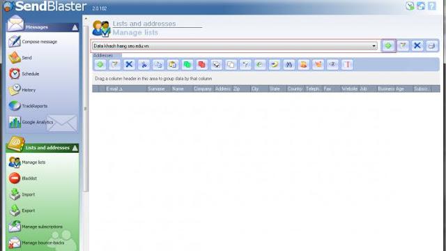 Phần mềm Send Blaster