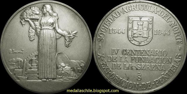 Medalla La Serena Agricultura Exposición Peñuelas