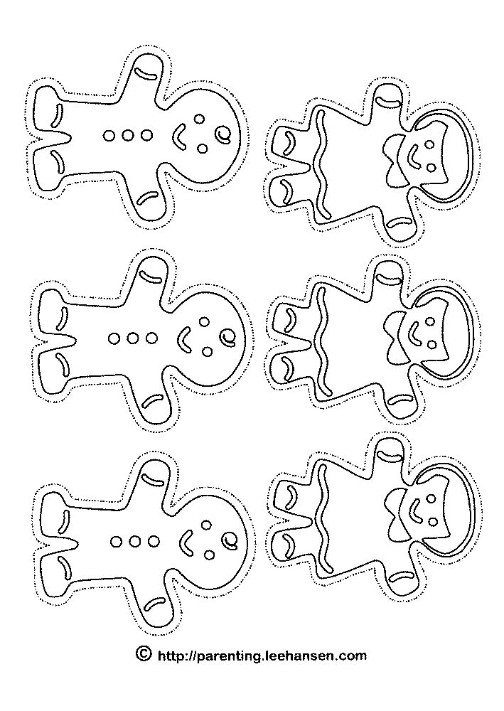 gingerbread cookie coloring page - dz doodles digital stamps a plethora of fall and winter