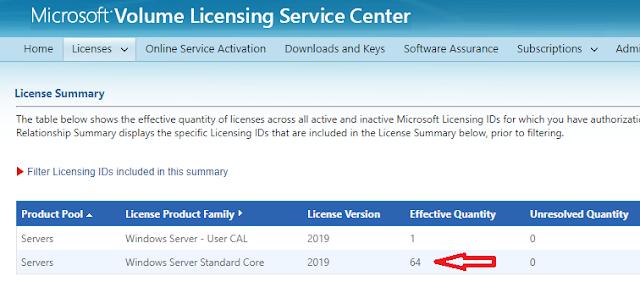 """Windows: VLSC """"Effective Quantity"""" ¿Qué es?"""