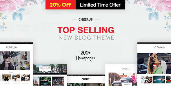 cheerup blog magazine wordpress blog theme