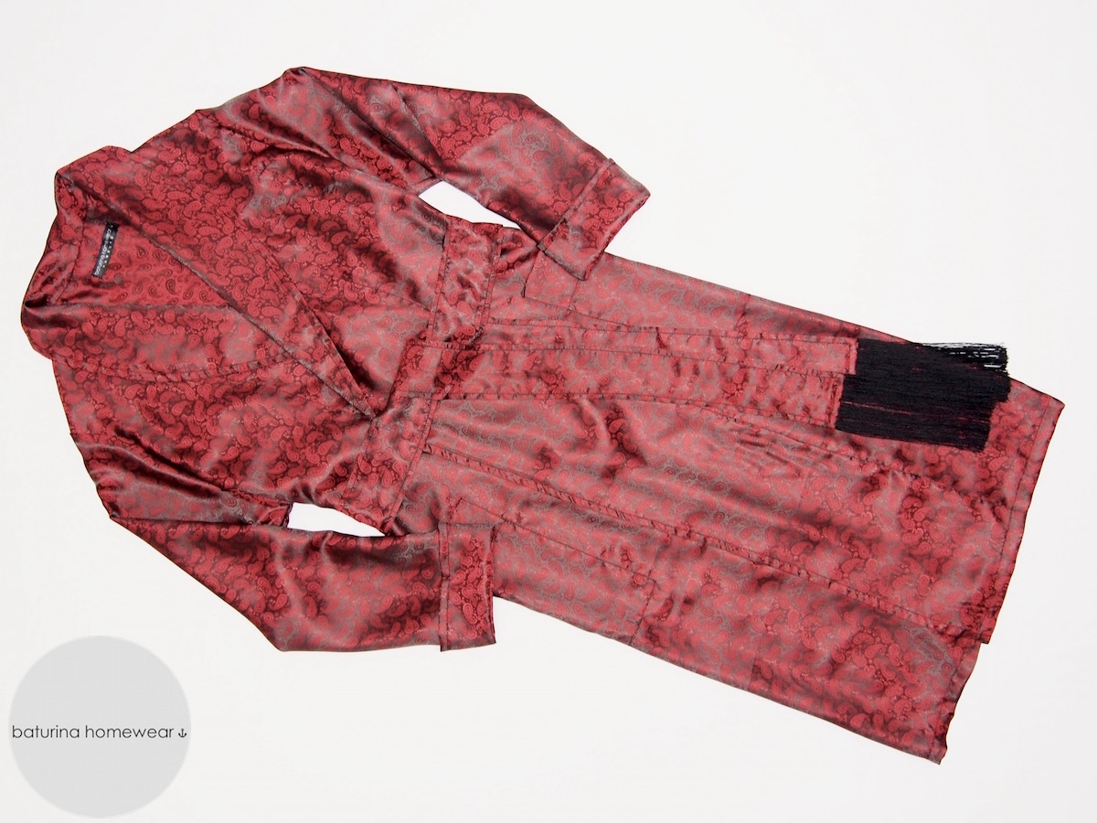 Men's Silk Dressing Gowns, Luxury Paisley Robes And