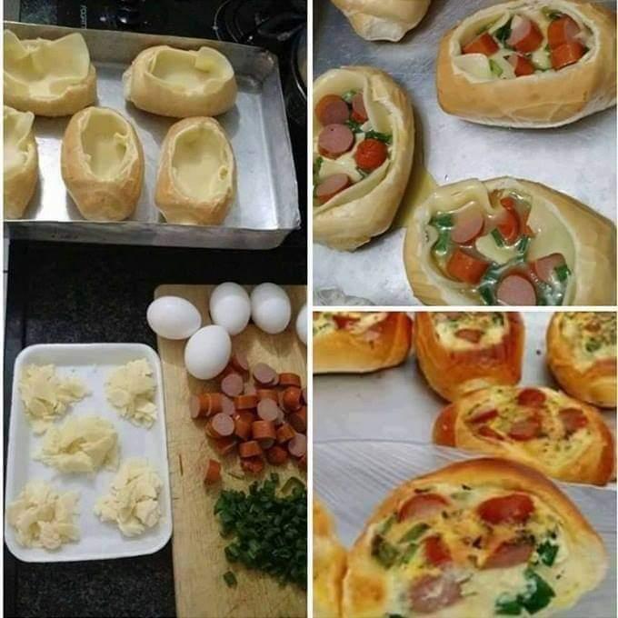 Omelete dentro do Pão