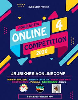 Kompetisi rubik online dari Rubiknesia dan bekerja sama dengan Deer Cube.