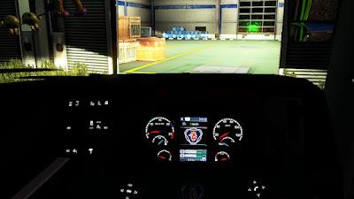 Mod Digital Speedometer untuk Bus ETS2 v1.30-1.36