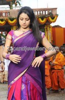Trisha Silk Saree Blouse Pattern