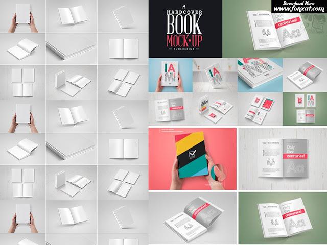 مجموعة من الموك اب لاغلفة الكتب باشكال مختلفة