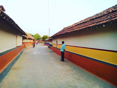 Santhal village house